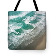 Beach Waves From Above Tote Bag