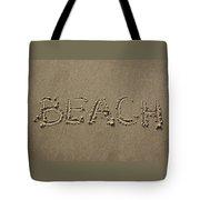 Beach Written Text  Tote Bag