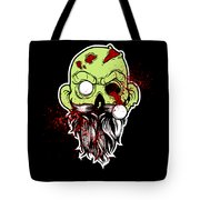 Bearded Zombie Undead With Beard Halloween Party Dark Tote Bag