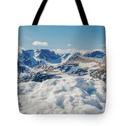 Beartooth Mountains In Snow Tote Bag by Dan Sproul