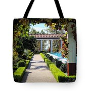 Beautiful Courtyard Getty Villa  Tote Bag