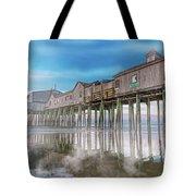 Beautiful Pier Maine Morning Tote Bag