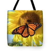 Beauty On The Sunflower Tote Bag