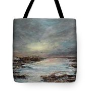 Beavertail State Park At Sunset Tote Bag by Michele A Loftus