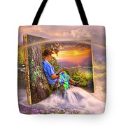 Becoming Part Of The Story In Watercolors Tote Bag