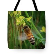 Bee And Flower Tote Bag