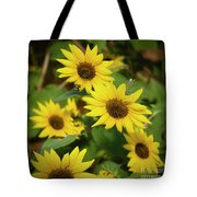 Bee And Sunflowers Tote Bag