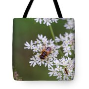 Bee Relaxing On A Flower. Tote Bag