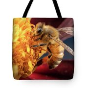 Bee Work Tote Bag by Brian Hale