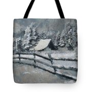 Before The Blizzard Tote Bag