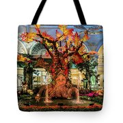 Bellagio Conservatory Enchanted Talking Tree Ultra Wide 2018 2.5 To 1 Aspect Ratio Tote Bag