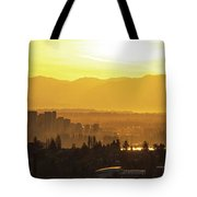 Bellevue Eastside Morning Light Atmosphere Tote Bag