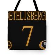 Ben Roethlisberger Jersey Tote Bag