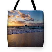 Bermuda Beach Sunrise Tote Bag