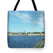 Berwick Upon Tweed, River And City Walls Tote Bag