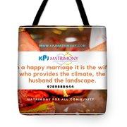Best Matrimony In Chennai Tote Bag