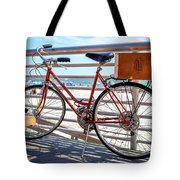 Bicycle At The Beach Tote Bag