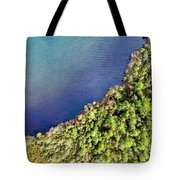 Big Bay Bear Lake Aerial Tote Bag