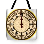 Big Ben Midnight Clock Face Tote Bag
