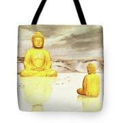 Big Buddha, Little Buddha Tote Bag