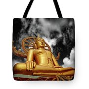 Big Buddha Thailand Tote Bag by Adrian Evans