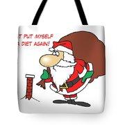 Big Fat Santa And Tiny Chimney Tote Bag