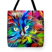 Big Whiskers Cat Tote Bag by Don Northup