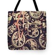 Bike Mountain Tote Bag