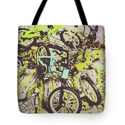 Bikes And City Routes Tote Bag