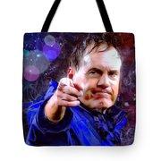 Bill Belichick Spotlight Portrait Tote Bag