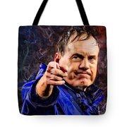 Bill Stephen Belichick Portrait Tote Bag