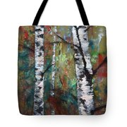 Birch Portrait I Tote Bag