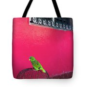 Bird On Cage Tote Bag