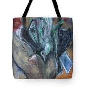 Birds In Flowers Tote Bag