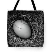 Birds Nest Black And White Tote Bag by Edward Fielding