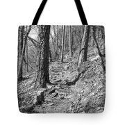 Black And White Mountain Trail Tote Bag