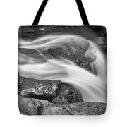 Black And White Rushing Water Tote Bag by Louis Dallara