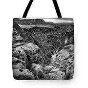 Black And White Toroweap Tote Bag