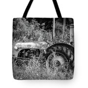 Black And White Tractor Tote Bag