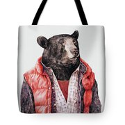 Black Bear Tote Bag by Animal Crew