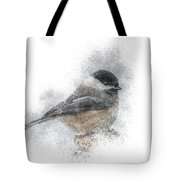 Black-capped Chickadee Perch Tote Bag by Patti Deters