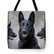 Black German Shepherd Dog Collage Tote Bag