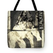 Black Ivory Horse On Hind Legs 1 Tote Bag