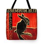 Black Ivory Rabbit Tote Bag