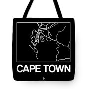 Black Map Of Cape Town Tote Bag