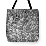 Black Outed Tote Bag