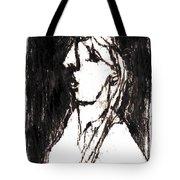 Black Side Portrait Tote Bag