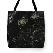 Black, Silver And Gold Abstract Tote Bag