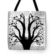Blackbirds In A Tree - Central Tote Bag