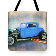 Blue 32 Ford Coupe Tote Bag